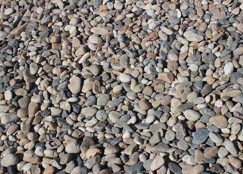 "1.5"" Grey River Rock"