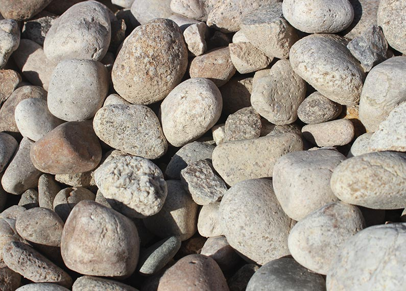 1.5″ Beige River Rock