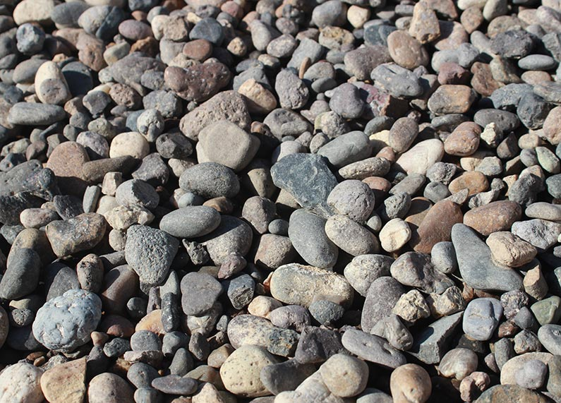 3/4″ Grey River Rock