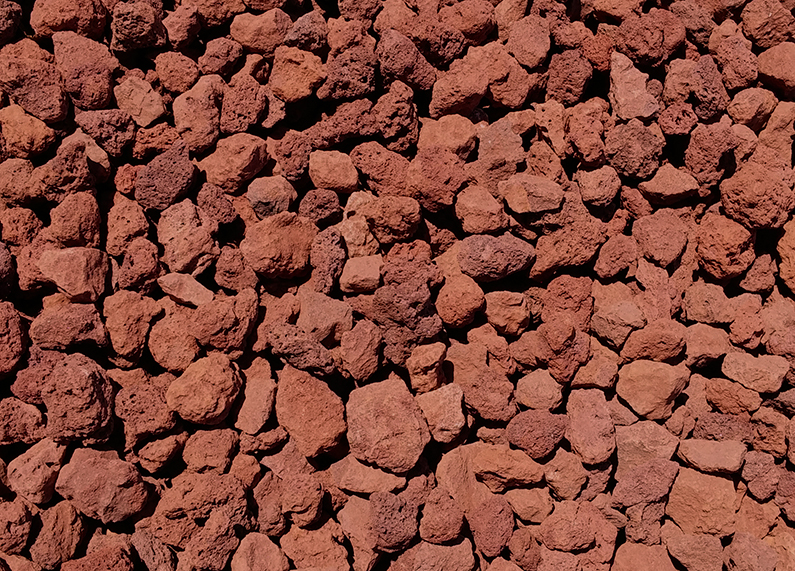 1″ Red Lava Cinders